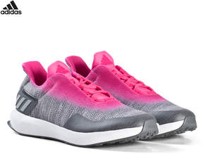 adidas Grey and Pink RapidaRun Uncaged Trainers