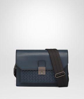 Bottega Veneta Denim Nappa Messenger Bag