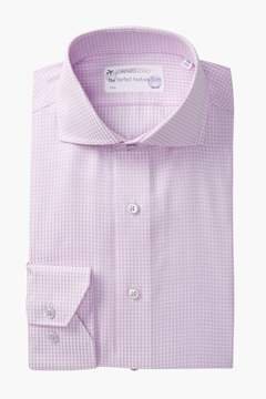 Lorenzo Uomo Mini Check Trim Fit Dress Shirt