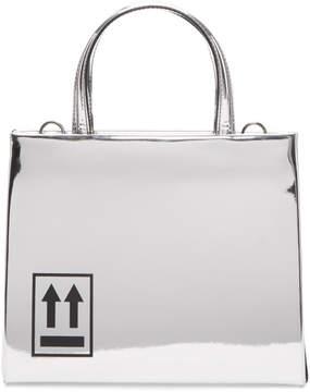 Off-White Silver Mini Mirror Box Bag