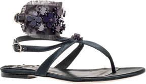 Max Studio votive : floral beaded satin flat sandals
