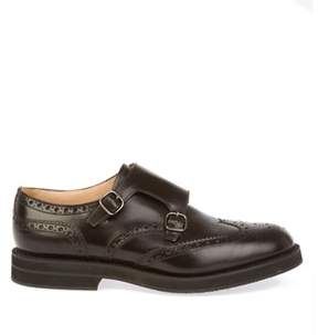 Church's Men's Brown Leather Monk Strap Shoes.