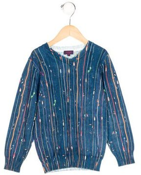 Paul Smith Boys' Cord-Patterned Rib Knit Sweater