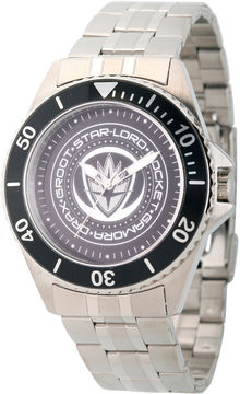 Marvel Guardian Of The Galaxy Mens Silver Tone Strap Watch-Wma000098