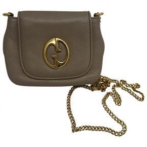 Gucci 1973 Leather Clutch Bag - GREY - STYLE