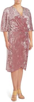 Alexia Admor Women's Flutter-Sleeve Wrap Dress - Blush, Size 1x (14-16)