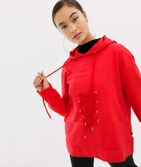 Noisy May Sweatshirt With Lace Up Tie