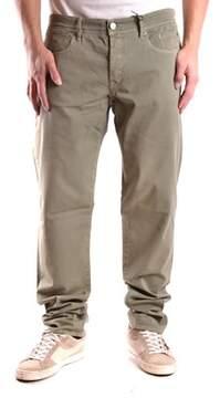 Siviglia Men's Green Cotton Jeans.
