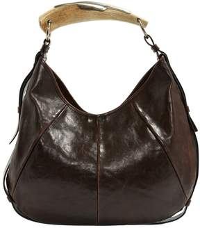 Saint Laurent Mombasa leather handbag - BROWN - STYLE
