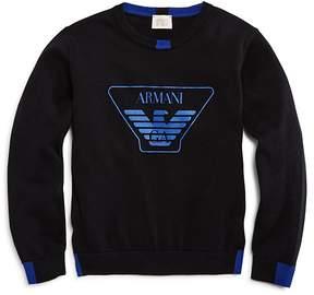 Armani Junior Boys' Logo Sweater - Little Kid, Big Kid