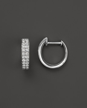 Bloomingdale's Diamond Hoop Earrings in 14K White Gold, .50 ct. t.w. - 100% Exclusive