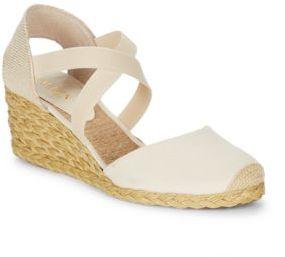 Lauren Ralph Lauren Casandra Shantung Espadrille Wedge Sandals