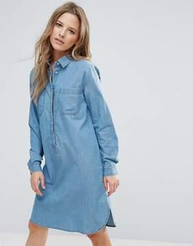 Brave Soul Rosin Oversize Denim Shirt Dress
