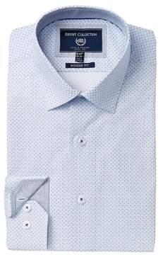 Report Collection Modern Fit Polka Dot Dress Shirt