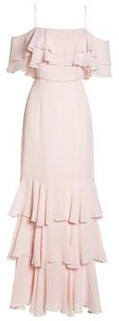 WAYF Women's Lauren Off The Shoulder Tiered Gown