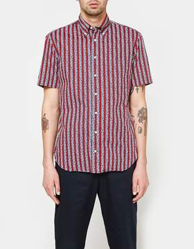 Gitman Brothers Red Arabesque SS Button Down