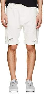 R 13 Men's Ian Distressed Denim Drop-Rise Shorts