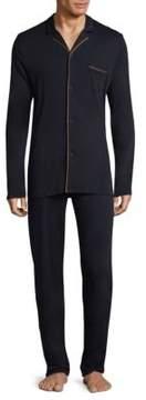 Hanro Valentin Button-Front Pajamas