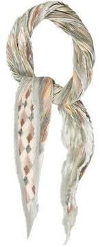 Hermes Trophees de Venise Silk Plissé Scarf