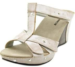 Romika Mallorca 12 Open Toe Leather Wedge Sandal.