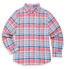 Vineyard Vines Toddler's, Little Boy's & Boy's Middleton Plaid Cotton Collared Shirt
