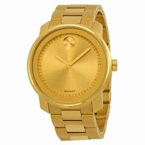 Movado Bold Champagne Dial Gold-tone Men's Watch 3600258