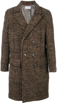Brunello Cucinelli plaid double-breasted coat