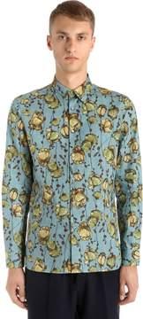Antonio Marras Printed Flowers Cotton Poplin Shirt