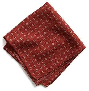 Todd Snyder Italian Wool Pocket Square in Red Circle