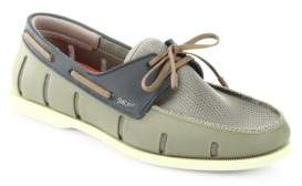 Swims Perforated Boat Lace-Up Loafers