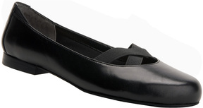 Ros Hommerson Black Opal Leather Flat - Women