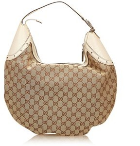 Gucci Pre-owned: Jacquard Shoulder Bag. - BROWN X LIGHT BROWN X WHITE - STYLE