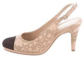 Chanel Laser Cut Cap-Toe Pumps