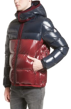 Moncler Men's Harry Two-Tone Lacquered Hooded Down Jacket