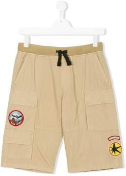Diesel Teen logo patch shorts
