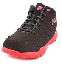 Fila Jump Flex Youth Round Toe Synthetic Red Basketball Shoe.