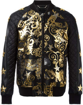 Philipp Plein Feel Gold bomber jacket