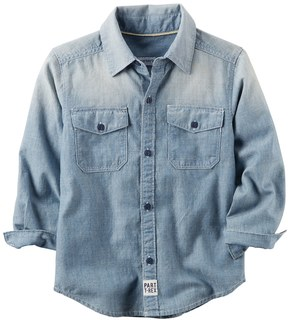 Carter's Toddler Boy Chambray Button Front Shirt