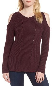 Chelsea28 Women's Cold Shoulder Sweater