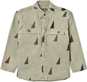 Bobo Choses Khaki Sail Print Overshirt