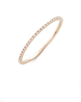 Ef Collection Women's Two-Tone Diamond Stack Ring