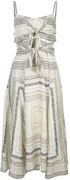 Derek Lam printed front fastened dress
