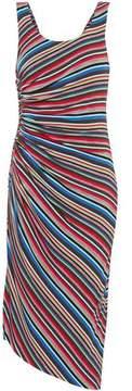 Bailey 44 Aruba Ruched Striped Stretch-Jersey Dress
