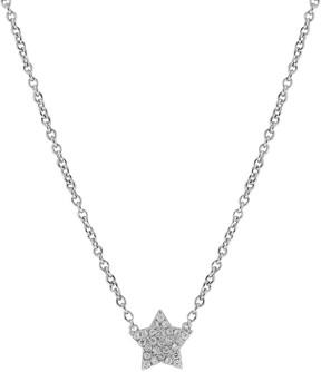 Crislu CZ Pave Star Pendant Necklace