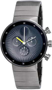 Movado Edge Chronograph Black Dial Stainless Steel Men's Watch