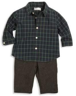 Ralph Lauren Baby's Two-Piece Cotton Poplin Shirt & Merino Wool Pants Set