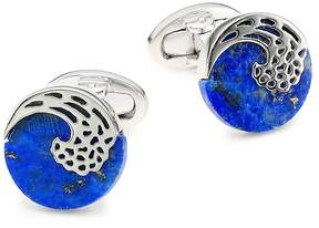 Jan Leslie Men's Lapis & Sterling Silver Laser Wave Cufflinks