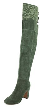 Nanette Lepore Berry Women Moc Toe Suede Green Boot.