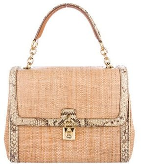 Dolce & Gabbana Raffia Miss Dolce Bag - BROWN - STYLE