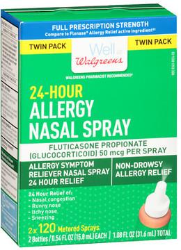 Walgreens 24-Hour Allergy Nasal Spray 2 X 120 Metered Spray